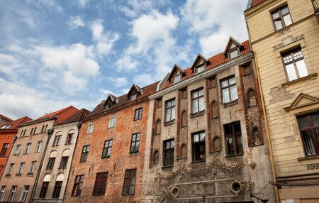 tenement: City of Torun in Poland, historic tenement houses, apartment buildings in the Old Town