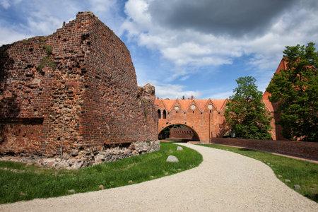 teutonic: Teutonic Knights Castle in Torun, Poland, city landmark dating back to 13th century. Editorial