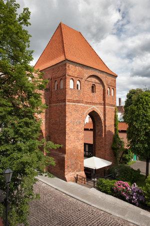 teutonic: Teutonic Knights Castle in Torun, Poland, historic city landmark dating back to 13th century.