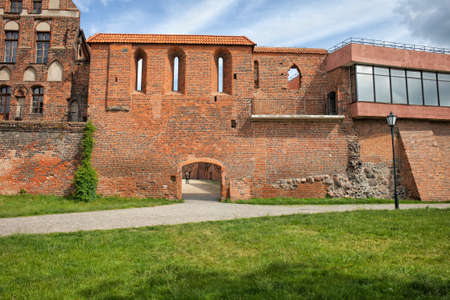 fortification: Torun city wall fortification, Poland.