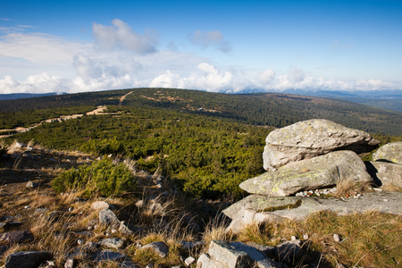 sudetes: Karkonosze mountains landscape, Sudetes, Poland.
