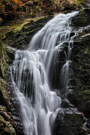 sudetes: Kamienczyk waterfall (Polish: Wodospad Kamienczyka), Karkonoski National Park, Karkonosze Mountains, Poland.