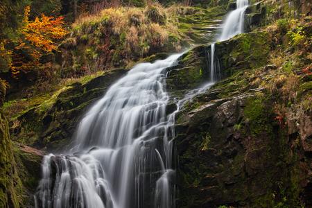 sudetes: Poland, Lower Silesia, Sudetes, Karkonosze Mountains, Kamienczyk waterfall