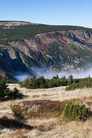 Karkonosze Mountains landscape, Sudetes (Sudeten), Poland and Czech Republic border.