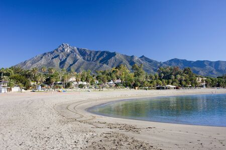 vacation destination: Spain, Costa del Sol, Marbella beach, popular vacation destination