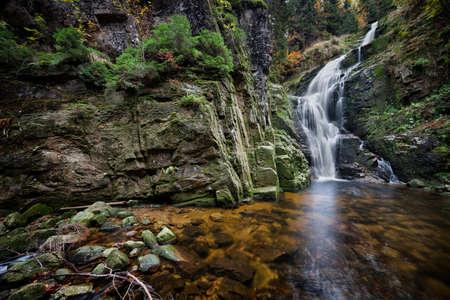sudetes: Kamienczyk waterfall (Wodospad Kamienczyka), Karkonoski National Park, Karkonosze Mountains,  Sudetes, Poland