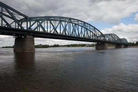 torun: Pilsudski Bridge (Jozefa Pilsudskiego) over Vistula River in Torun, Poland