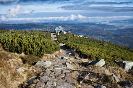 footway: Karkonosze Mountains in Poland, mountain trail to Kopa ski lift