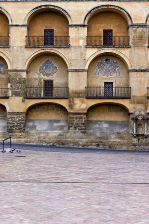 niches: Arches of Mezquita Cathedral Mosque in Cordoba, Andalusia, Spain