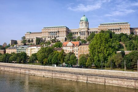 buda: City of Budapest in Hungary, Buda Castle - Royal Palace and Danube River waterfront