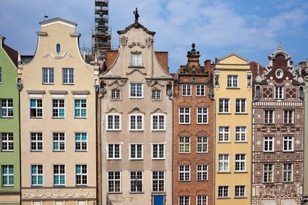 gabled house: Poland, city of Gdansk, Old Town, historic tenement houses with gables