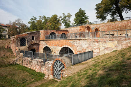 monument historical monument: Bastion Ceglarski ruins in Wroclaw, Poland, part of old city fortifications dating back to 1585