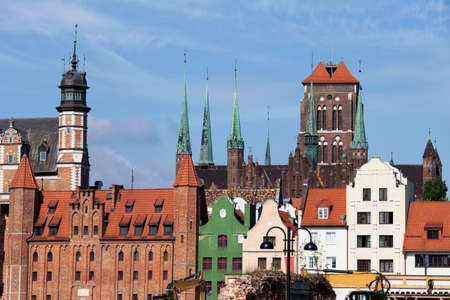gabled houses: Gdansk in Poland, Old Town skyline