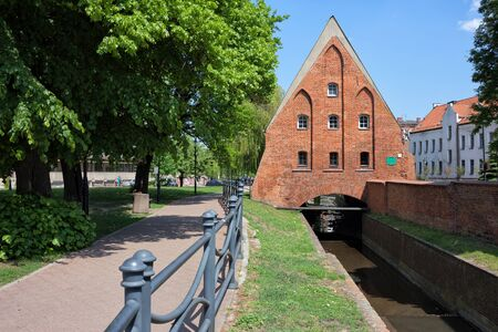 gdansk: Small Mill from 1400 on Raduni Canal in Gdansk, Poland