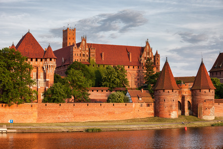 teutonic: Poland, Malbork Castle at Nogat River, High Castle and Grand Masters Palace, Teutonic Knights medieval headquarters