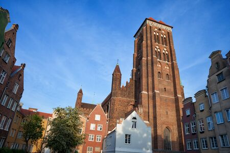 St. Mary Church (Polish: Bazylika Mariacka) in Old Town of Gdansk, Poland Stock Photo
