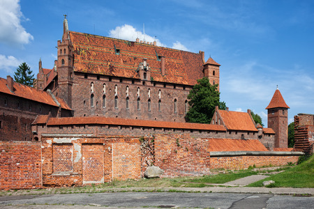 teutonic: High Castle of the Malbork Castle in Poland, medieval fortress built by the Teutonic Knights Order Editorial