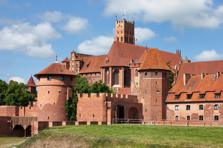 side order: Malbork Castle in Poland from the east side, medieval fortress built by the Teutonic Knights Order