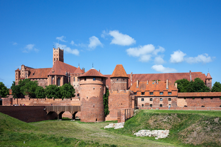 fortify: Malbork Castle in Poland, medieval fortress built by the Teutonic Knights Order, east side Editorial