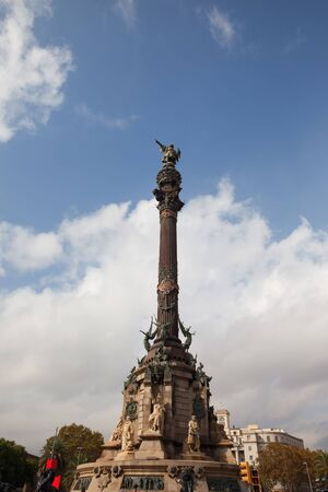 colom: Spain, Catalonia, city of Barcelona, monument to Christopher Columbus