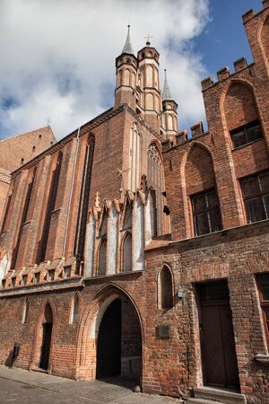 Poland, city of Torun, Church of the Assumption of the Blessed Virgin Mary, 14th century medieval, Gothic architecture Stock Photo