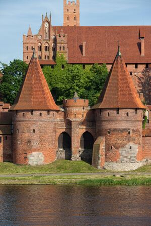 13th century: Malbork Castle in Poland, 13th century medieval fortification at the Nogat River