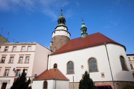 religious building: St. Anne Chapel and Wojanowska Tower in city of Jelenia Gora, Lower Silesia, Poland, Europe