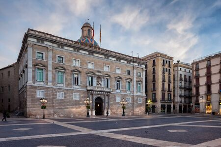 Palace of the Generalitat on Placa de Sant Jaume square in city of Barcelona, Catalonia, Spain, Europe