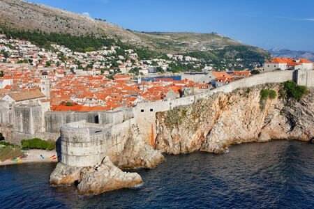 Old Town of Dubrovnik in Croatia, picturesque walled city by the Adriatic Sea in Southern Dalmatia region.