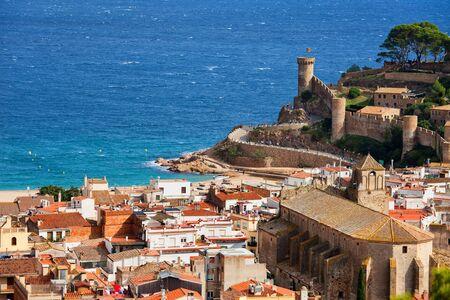 Coastal town of Tossa de Mar on Costa Brava in Catalonia, Spain