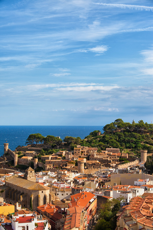 Tossa de Mar picturesque seaside town on Costa Brava in Catalonia, Spain, Europe