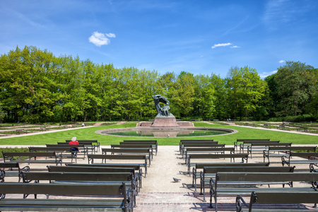 frederic: Royal Lazienki Park and Fryderyk Chopin Statue, city of Warsaw, Poland