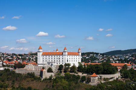 Slovakia, capital city cityscape with Bratislava Castle
