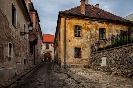 bratislava: City of Bratislava in Slovakia, Old Town, aged houses, picturesque urban scenery. Stock Photo