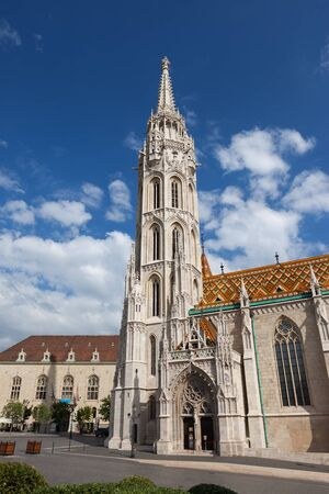 Hungary, Budapest, Matthias Church, city landmark in late Gothic style