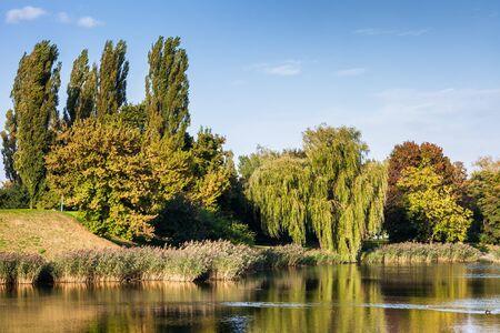 Szczesliwicki Park in Ochota district of Warsaw city in Poland