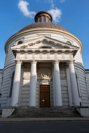 Holy Trinity Evangelical Church of the Augsburg Confession in Warsaw, Poland. Neoclassical rotunda designed in 18th century by Szymon Bogumił Zug.