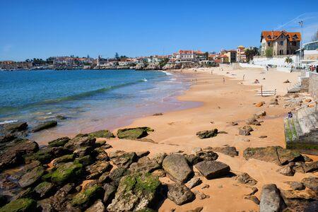 Duchess Beach (Praia da Duquesa) in Cascais, Portugal, popular resort town by the Atlantic Ocean, Portuguese Riviera