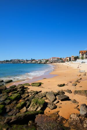 Duchess Beach (Praia da Duquesa) in Cascais, resort coastal town by the Atlantic Ocean, Portuguese Riviera, Portugal Imagens