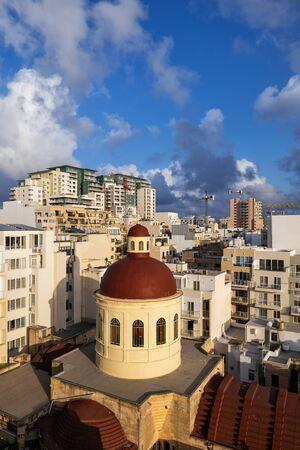 Dome of Parish Church of Jesus of Nazareth in Sliema town, Malta