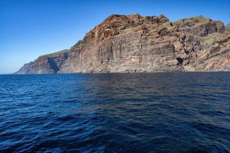 Cliffs of Los Gigantes on the Atlantic Ocean in Tenerife, Canary Islands, Spain