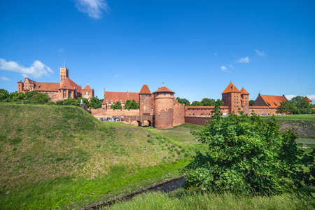 The Malbork Castle in Poland, Teutonic Knights medieval fortress. Editorial