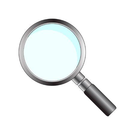 seeking: Magnifying glass Illustration
