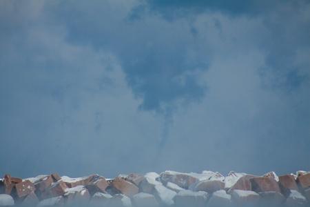 waterspout: A Rare Cold Weather Waterspout sul lago Michigan nel mese di gennaio del 2014 Archivio Fotografico