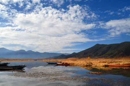 Lugu Lake landscape scenery view
