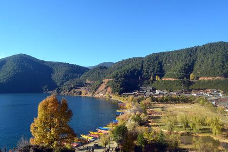 Lugu Lake landscape scenery view