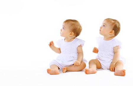 Two beautiful twins baby Standard-Bild