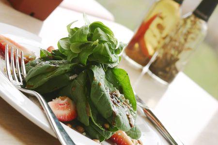 Spinach salad. Shallow DOF. Stock Photo - 220563