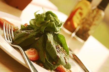Spinach salad. Shallow DOF. Stock Photo - 220541