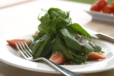 Spinach salad. Shallow DOF. Stock Photo - 220540